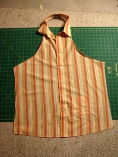 Refashioned Apron Tutorial - From Shirt to Apron