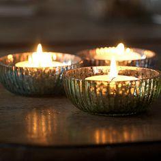 Diwali home decoration ideas : glass bowl tealights Diwali Diy, Diwali Craft, Glass Tea Light Holders, Candle Holders, T Lights, Candle Magic, Diwali Decorations, Al Fresco Dining, Burning Candle