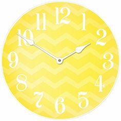 Yellow Chevron Clock