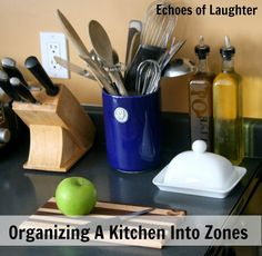 Organizing the kitchen into zones from Org Junkie
