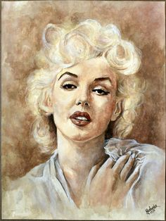 Norma Jeane by rushijay | This image first pinned to Marilyn Monroe Art board, here: http://pinterest.com/fairbanksgrafix/marilyn-monroe-art/ || #Art #MarilynMonroe