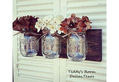 Hey, I found this really awesome Etsy listing at https://www.etsy.com/listing/194863561/mason-jar-wall-decor-wood-country-decor