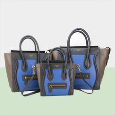 celine luggage micro boston bag ferrari leather 88023 rose&blue&black