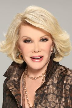 JOAN RIVERS - ding, dong...she's gone and I loved her. She had no filter and was a true trailblazer..The beat of her drum was loud and crass completely to the end!  Give the lady a hand and a standing  ovation!