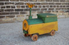 wooden riding train