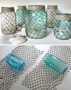 Unterwasser-Deko Blau und farbig wie der Meeresgrund #diy #maritimedeko