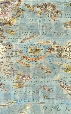 Navigate The Internet On This Stunning Antique Map Of The Online World