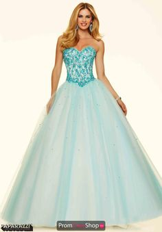 The perfect combination of rhinestones and turquoise beads on this Mori Lee ball gown dress 98079 will have you sparkling unbelievably. The V shaped waistline and lace up back will flatter you perfectly while the sweetheart bodice is accented with breathtaking beadwork adding glamour. See more Mori Lee Paparazzi dresses at Prom Dress Shop today.