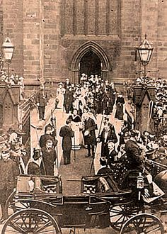Princess Victoria visits the Cathedral, 1900