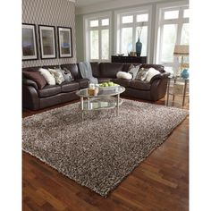 Cut pile design leather shag rugs, made in india. For more details ...