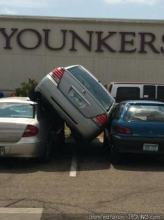 How does this even happen? #CarHumor #JustForFun