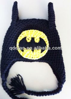 Free Batman Beanie Crochet Pattern | batman baby crochet hat&caps acrylic beanie MINIONS, View crochet ...