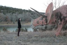 Abandoned Dinosaur World amusement park in Beaver, Arkansas