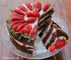 Tort de post cu capsuni - DesertdeCasa.ro - Maria Popa Raw Vegan Desserts, Vegan Cake, Vegan Recipes, Cookie Recipes, Dessert Recipes, Healthy Banana Muffins, Food And Thought, Pastry Cake, Vegan Vegetarian