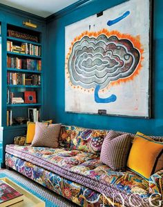 Tilton Fenwick  boldly mix pattern and color
