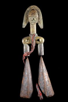 Africa | Gong from the Kota people of Gabon or the Gurunsi people of Burkina Faso | Iron | ca. 1970