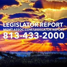 LEGISLATOR REPORT  Stay current with news, updates and reports about Management and Associates and the Florida Legislation!  Call us if you have any questions! 813-433-2000 http://mgmt-assoc.com/legislator-report #report #legislator #legislation #news #reports #florida