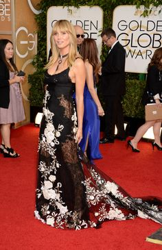 Heidi Klum | Fashion On The 2014 Golden Globes Red Carpet