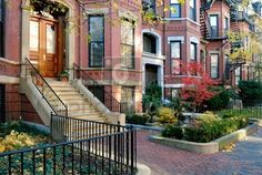 Boston Back Bay - considered one of the best-preserved examples of 19th-century urban design in the United States. The Victorian brownstone homes are impeccably maintained and the landscaping is stunning.  Image credit: photoxpress.com