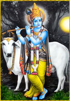 Krishna With Cow Wallpaper Lord Krishna Best Games Wallpapers