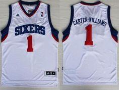 5de87d99de3 ... Philadelphia 76ers Jersey 1 Michael Carter-Williams Blue Swingman  Jerseys Pinterest Michael carter ...