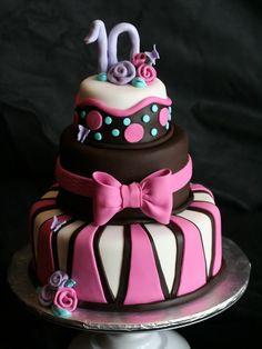 girls birthday cake ideas pink chocolate