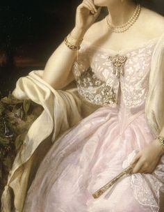Detail of 'Elizabeth Ann Haryett', by Henriette Jacotte Cappelaere, 1850