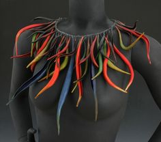 Could be done with pods from several trees in this area - DLGH Necklace | Damia Smith. Polymer Strands