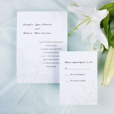 Affordable Simple Rustic Floral Spring Wedding Invites EWI110 |