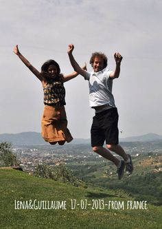 Lena & Guillaume 17-07-2013 from france jump for Forestaria Organic Farm & B, Tuscany, Lucca