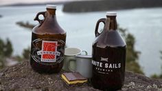Growlers from Nanaimo breweries Longwood and White Sails. Rebecca Whyman says the refillable bottles, part and parcel of the craft beer experience, could be on their way out.