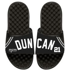 e45f936c7 Tim Duncan San Antonio Spurs ISlide Youth Retro Jersey Slide Sandals -   50.00 Beach Sandals
