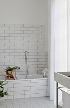 my scandinavian home: A unique and fabulous German home Subway tile with black grout Bad Inspiration, Interior Design Inspiration, Bathroom Inspiration, Home Interior Design, White Subway Tiles, Apartment Interior, Beautiful Interiors, Home Collections, Living Spaces