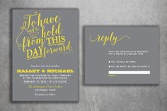 Affordable Wedding Invitations Set Printed  by Level33Graphics