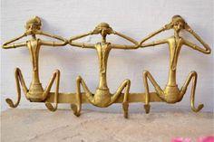Miharu Dhokra Gandhi's Monkey Wall Hook