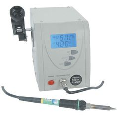 60W ESD Safe Lead-Free Soldering Station with LCD Panel