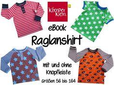 eBook Raglanshirt mit Knopfleiste 56-164 von Klimperklein auf DaWanda.com
