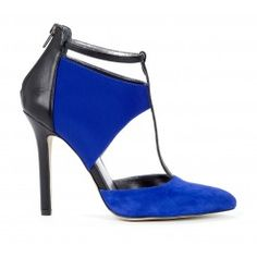 Adele cut-out heel, love the blue.