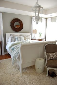 master bedroom- great before/after pics. This is how I approach decorating my house as well. Love it!