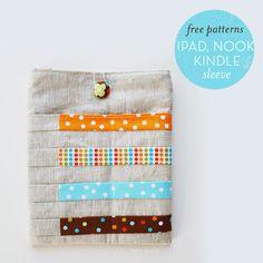 free tutorial: ipad, kindle and nook sleeve