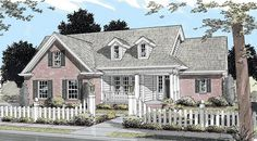 #655815 - 3 bedroom 2.5 bath Country split plan with large front porch : House Plans, Floor Plans, Home Plans, Plan It at HousePlanIt.com