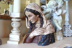 Antique French Bust of The Madonna Our Lady The by edithandevelyn