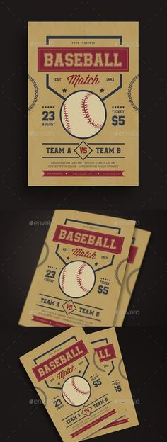 Spesifications CMYK 300 DPI Size + Bleed Well Organized Layer AI& Psd FIle Editable text image, color Font used Wisdom Script Roboto Slab Athletic Be true to your school Don't forget to rate this file ENJOY Baseball Match, Backyard Baseball, Poster Competition, Sports Graphic Design, Sport Design, Baseball Posters, Workout Posters, Sports Flyer
