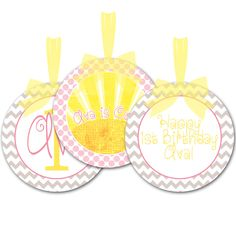Sunshine Printable Party Decorations Digital by PixelPerfection