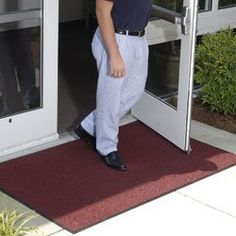 ANDERSEN Brush Hog Entrance Mats - Burgundy by BrushHog. $433.00. ANDERSEN Brush Hog Entrance Mats' long-wearing turf-like fiber system is the same used on athletic fields. Perfect for use outside entrances or in high-traffic areas, the coarse nylon fibers filter soil away from the mat's surface. Solution-dyed material will not fade. Easy to clean and dries quickly. Rubber backing. NFSI certified to be slip resistant. NOTE: Custom-cut mats up to 60' long are avail...