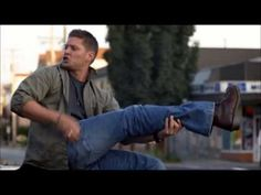Supernatural Dean Winchester Eye of the tiger - OMG! This cracks me up every time!