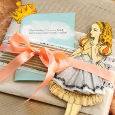 packaging, paper dolls, stamping, ribbon