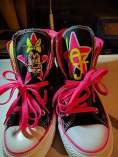 300b2b25798f Items similar to Converse Chuck Taylor all stars hi tops custom Minnie  mouse on Etsy