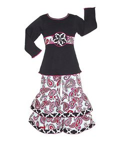 Look what I found on #zulily! Paisley Ruffle Top & Pants - Infant, Toddler & Girls #zulilyfinds