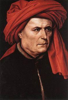 CAMPIN-Ritratto di uomo con turbante (1425-30) Olio su tavola @Londra National Gallery